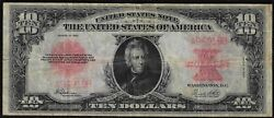 1923 10 Poker Chip Large United States Note Vf+ Free S/h After 1st Item