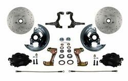 Leed Brakes Bfc1007e1a3x Front Disc Brake Kit W/2 In. Drop Spindles Gm Chevy Ii/