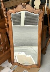 """Ethan Allen Country French Wall Mirror #26 5300 Fruitwood 1989 44""""x22"""""""