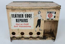 Vintage 1960's Bowes Seal Fast Tire Repair Gas Station Metal Cabinet Sign In
