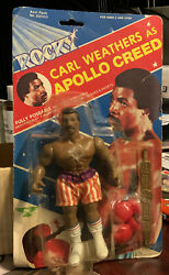 Phoenix Toys Apollo Creed Rocky Action Figure Toy 1983 On Card Vintage Pac