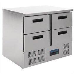 Polar 4 Drawer Compact Counter Fridge 240 Litre Ltr U638 Catering Commercial