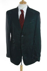 Nwt Mens Billionaire Couture Green Wool Sheer Double Breasted Striped Blazer 46