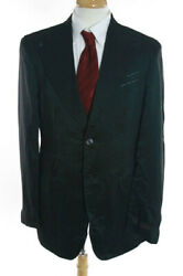 Nwt Mens Billionaire Couture Green Wool Sheer Double Breasted Striped Blazer 44
