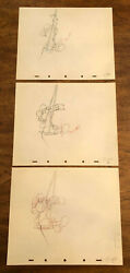 D2069 3 1940 Disney Tugboat Mickey Animation Drawings
