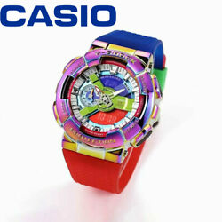 New Casio Rainbow G-shock Color Gm-110rb-2apr Watch Digital Dial Gold Watch Lk