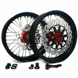 17and039and039+17 Complete Wheel Set For Honda Crf250r Crf450r 15-18 Brake Rotors Bracket