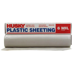 20 X 50 Ft. Clear 6 Mil Plastic Sheeting, Extra Heavy Duty Coverall Roll