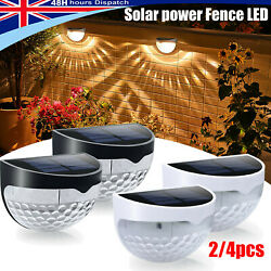 Solar Powered Wall Fence Led Garden Landscape Patio Outdoor Post Lights Decor