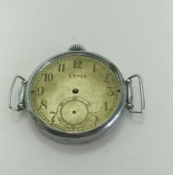 Open Face Cyma Pocket Watch Converted To Military Watch For Russian Commanders