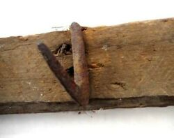 1800 Antique Amish Barn 48hand Wrought Iron Wood Hooks Hattobaccoherbclothes