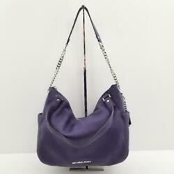 Michael Kors 30F5SCUE3L Chandler Large Purple Leather Convertible Shoulder Bag $79.95