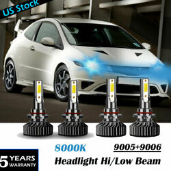 9005+9006 Combo Led Headlight Highandlow Beam 8k Ice Blue 55w 8000lm Wholesale