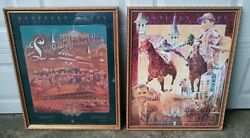 Kentucky Derby Framed Official Posters 1992 + 1995 Churchill Downs 118th 121st