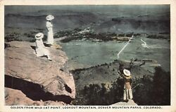 Golden from Wild Cat Point Lookout Mountain Colorado Antique Postcard L04