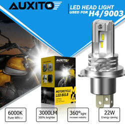 Auxito Motorcycle H4 9003 Csp Led Headlight Bulb High Power Hi/low Beam 6000k Us