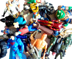 Action Figures Toys Mixed Lot Of 55 Miscellaneous Quality Vintage And Recent