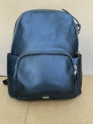 Tumi Voyageur Ruby Backpack Leather Laptop Bag 196465 Black $595 NEW Style $395.00