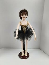 Abigail Brahms Ballerina Plastic Doll With Stand/ About 17 Inches Tall Rare
