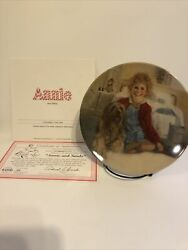 Edwin M Knowles-annie And Sandy Collector Plate-first Issue Little Orphan Annie