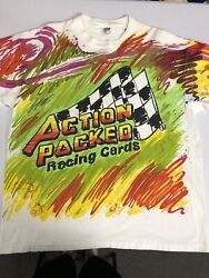 Vintage Action Packed Racing Cards Nascar All Over Print T Shirt Size Xxl