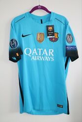 Fc Barcelona 2015/16 L Away Player Issue Jersey Shirt Brand New Raphina Bnwt