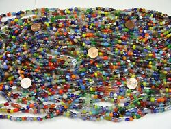 2 Pounds Assorted India Handmade Spacer Glass Beads Wholesale Bulk Lot Td-71