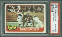 1965 Topps 134 Ws Mickey Mantle Psa 8.5 4273