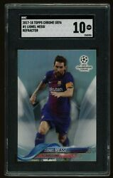2017-18 Topps Chrome Lionel Messi Refractor Sgc 10 Barcelona Argentina 1st Year