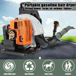 Back Pack Leaf Blower Pull Starting 2 Stroke Gas Powered Engine 63cc Us Stock