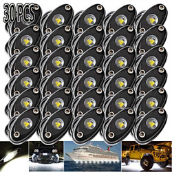 Ledmircy Led Rock Lights White 30pcs Kit For Off Road Truck Rzr Auto Car Boat