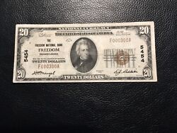 National Bank Note Freedom Pa Great Seriel No 300 Small Scuff Left Side