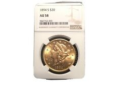 1894-s 20.00 Liberty Gold Coin Ngc Au58 Harder To Find S Mimt