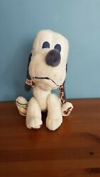 Pluto 11 Soft Toy Dog Classic Mickey Mouse Disney White Plush Jointed Legs Rare