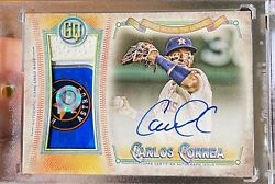 2018 Topps Gypsy Queen Carlos Correa Od Game-used Base On-card Auto /20 Astros