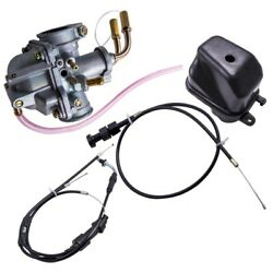 Carburetor + Air Filter + Throttle Choke Cable For Yamaha Y Zinger Peewee Pw50