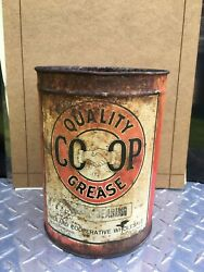 Vintage Midland Co-op 5 Pound Grease Can