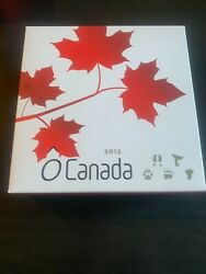 Rcm 2013 O-canada 25 5 Coin Subscription Set With Wooden Collector Display Box