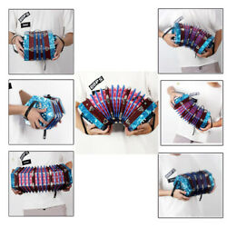 Hot Concertina Accordion 20-button 40-reed Anglo Style W/free Bag Blue Gift Q0y7