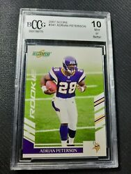 Adrian Peterson Nfl Rookie Card Score 2007 341 Bccg 10andnbsp