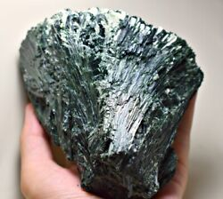 1 Kg Extreme Rare Top Quality Natural Green Actinolite Crystals Cluster Specimen