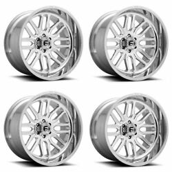 Set 4 22 Fuel D721 Ignite 22x12 High Luster Polished 5x5 For Jeep Wheels -43mm