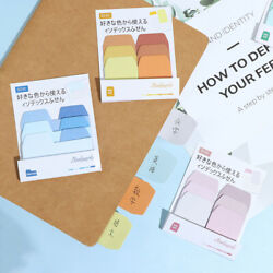 60 Blank Notes Pack Index Divider Sticky Notes Paper Tabs Office School Sup Qw