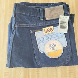 Vintage Lee Riders Boot Cut Regular Fit Mens Jeans 38 X 30 Cotton Made Usa