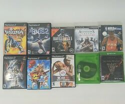 Playstation 2 And 3 Xbox One Video Game Lot Of 10 Bundle Ps2 Ps3