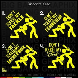 Funny Fishing Vinyl Decal Sticker Dont Touch Woman Suv Truck Car Window