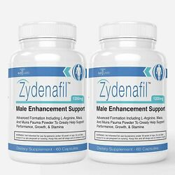 2 Pack Male Enhancement Support Performance Growth Stamina Supplement 120 Caps