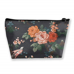 Folwer Makeup Bag Case Cosmetic Floral Toiletry Bags Small Zipper Pouch Large $15.55
