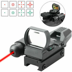 Reflex Red Green Reticles Dot Sight Scope With Red Laser Holographic Illuminated