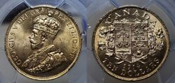 Canada 1914 10 Gold From Canadian Gold Reserve Hoard Pcgs Ms 63